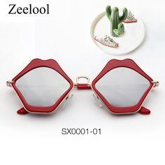 20e0f223ecc Magda Lip-Shaped Red Sunglasses SX0001-01