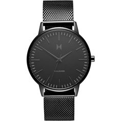 Women's Mvmt Boulevard Mesh Strap Watch, 38Mm (400 BRL) ❤ liked on Polyvore featuring jewelry, watches, black, mvmt, thin dial watches, thin watches, dial watches and thin wrist watch