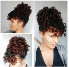 Beautiful Curly Puff & Bang IG:@stasialovescurls  #naturalhairmag