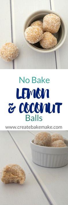 No Bake Lemon and Coconut Balls Recipe