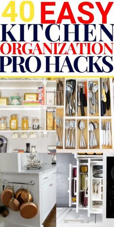I'm always looking for easy kitchen organization ideas, and these DIY budget-friendly tips are genius! 40 projects perfect for small or lar. Small Refrigerator, Refrigerator Organization, Kitchen Drawer Organization, Diy Kitchen Storage, Organization Ideas, Kitchen Drawers, Kitchen Pantry, Refrigerator Cabinet, Kitchen Corner