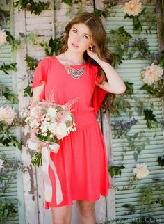 Can someone please let me know where I can buy this dress?? Lace & Lavender: coral #bridesmaid dress