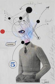 "Saatchi Art Artist Loui Jover; Collage, ""mr logical"" #art"