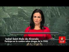 Isabel Saint Malo de Alvarado, Vicepresidenta y Canciller de Panamá,  habla en  la ONU. Abril 2016