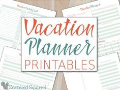 Keep track of all your vacation details with these handy Vacation Planner Printables. They& let you make plans ahead of time so you can focus on fun stuff. The Plan, Plan Your Trip, How To Plan, Planner Template, Printable Planner, Printables, Vacation Planner, Vacation Trips, Vacations