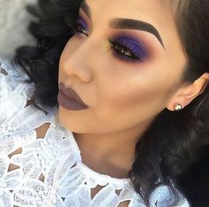 This purple smokey eye is everything Great