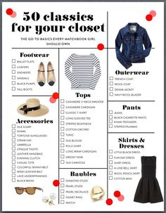 50 classics for your closet (Capsule wardrobe) Mode Chic, Mode Style, Look Fashion, Fashion Beauty, Fashion Tips, Fashion Check, Budget Fashion, Fashion Fall, Curvy Fashion