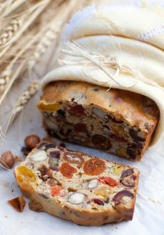 ♔ Autumn fruit & nuts tea bread