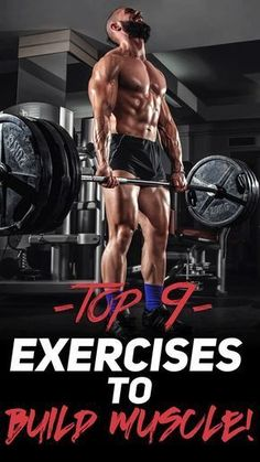 Check out The Top 9 Exercises to Build Muscle! #fitness #gym #exercise #workout