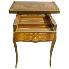 Regency Rosewood Game Table with Lemongrass Marquetry | From a unique collection of antique and modern desks and writing tables at https://www.1stdibs.com/furniture/tables/desks-writing-tables/