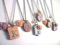 Collares de damas de honor del Provenza lavanda por Palomaria