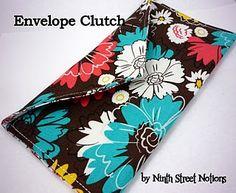 envelope clutch sewing tutorial