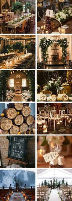Totally LOVE these wedding ideas. Fantastic ways to make a winter wedding much m… Totally LOVE these wedding ideas. Fantastic ways to make a winter wedding much more warm and cosy. Definitely pinning for later! December Wedding Colors, Winter Wedding Colors, Fall Wedding, Rustic Wedding, Dream Wedding, Winter Wedding Venue, Winter Themed Wedding, Winter Mountain Wedding, Winter Wedding Ceremonies