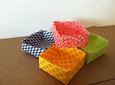 DIY Origami Favor Boxes perfect for wedding favors!
