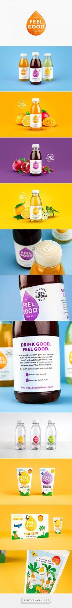 Feel Good drinks packaging design by Robot Food - http://www.packagingoftheworld.com/2017/10/feel-good.html