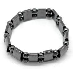 """superbe bracelet élastique en hématite """"magnétique"""" couleur noir naturel , longueur 18 cm"""