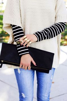 stripes and neutrals for fall