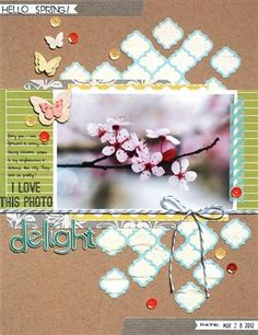 Delight {Studio Calico Take Note} - Club CK - The Online Community and Scrapbook Club from Creating Keepsakes