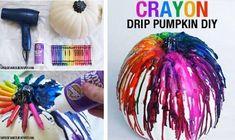 Crayon Drip Pumpkins (tutorial...)