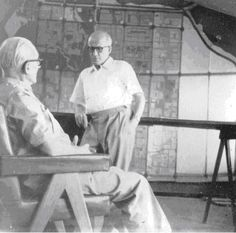 Pierre Jeanneret in conversation with Le Corbusier at the Le Corbusier Centre in Chandigarh - Pierre Jeanneret - Wikipedia