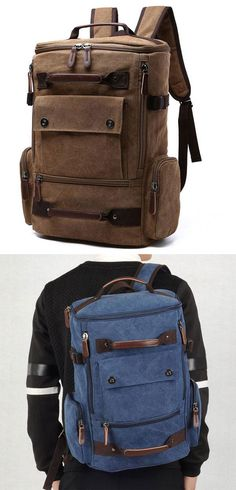 cc36013dd6fa0 Retro Washing Color School Backpack Travel Outdoor Backpack Large Capacity  Boy s Canvas Zipper Backpack