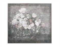 """Wood Wall Décor w/ Flower Bouque. Free Shipping in the US. 55.13"""" H x 61.5"""" W x 1.13"""" D Shape: Square"""