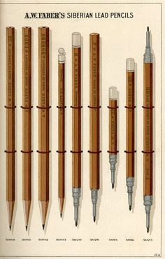 """C- I literally gasped when I saw these lithographed renderings from A.W. Faber's late 19th century catalog of pencils and other office supplies. The pamphlet cover states that Faber has factories in France and Germany and """"houses"""" in London, Paris and Berlin. But the company address is at 78 Reade Street, right here in NYC."""