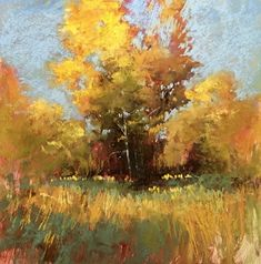 Glory in Gold by Bethany Fields Pastel ~ 12 x 12