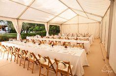 boda con mesas largas