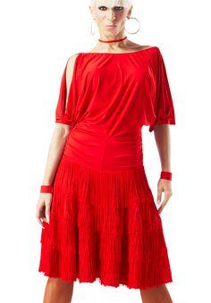 Taka Womens Latin Dance Dress 3L-00107 | Dancesport Fashion @ DanceShopper.com