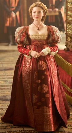 "Lucrezia Borgia (Holliday Grainger) ""The Borgias"". I want her entire wardrobe!"