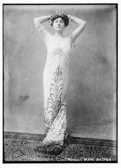 "Scottish operatic soprano Mary Garden (1874-1967) as ""Thais,"" 1908."