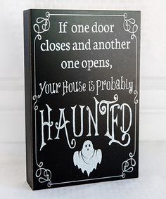 Look at this 'If One Door Closes' Box Sign on #zulily today!