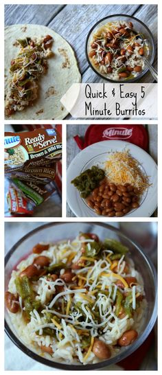Quick & Easy 5 Minute Burritos recipes are perfect for a healthy lunch. AD CelebrateMinuteRiceSweepstakes