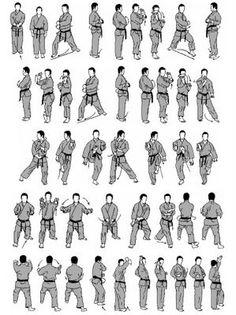 Karate Stances Names Basic karate japanese terms a