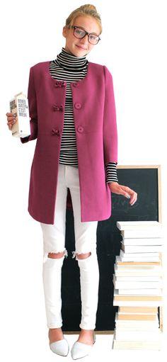 Lookbook #pinkcoat #stripes