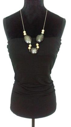 Haut noir bijou Morgan neuf jamais porté brassière intégrée  dos nu et attache chaine derrière le cou