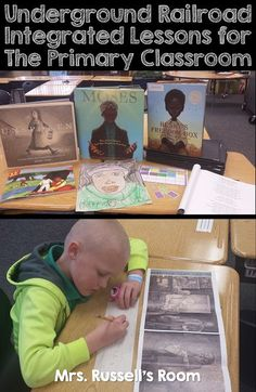 Underground Railroad Lessons for the Primary Classroom Teaching Reading, Learning, Teaching Ideas, Wordless Book, 2nd Grade Activities, Primary Classroom, Classroom Ideas, Underground Railroad, Elementary Library