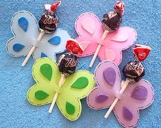 Lembrancinha fácil borboleta com pirulito | Pra Gente Miúda