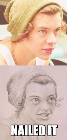 The soft-focus sketch. | 18 Varieties Of Dreadful One Direction Fan Art