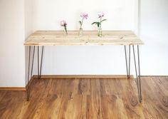 Vintage Altholz Design Tisch mit Hairpin Legs von KiddyWoods -  Emotional einzigartig - Gleich war gestern auf DaWanda.com