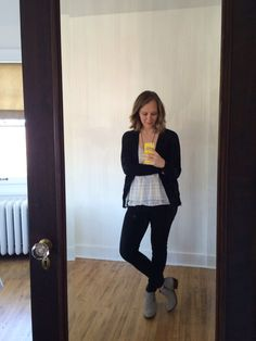 cardigan + tank + skinnies + ankle boots