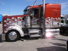 Kenworth Show Truck Show Trucks, Big Rig Trucks, Dump Trucks, Custom Big Rigs, Custom Trucks, Kenworth Trucks, Peterbilt, Semi Trailer, Diesel Cars