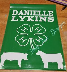 Love these 4H flags, they have been super popular !