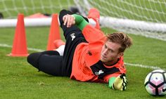 The Liverpool players not on international duty continued training at Melwood on…