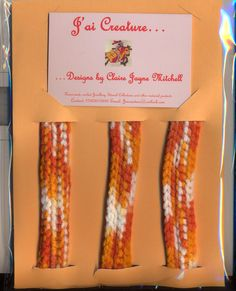 Pack of 3 bracelets £3.00 (excluding postage) Ideal for party bag fillers! Colour: Orange/White