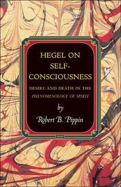 Hegel on Self-Consciousness by Robert B. Pippin.  Marbled paper artist unknown.