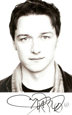JAMES MCAVOY. What even is his signature haha