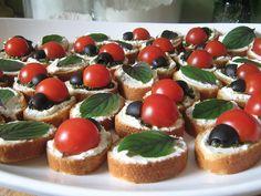 Ladybug picnic food...cute idea for a girl's tea party!