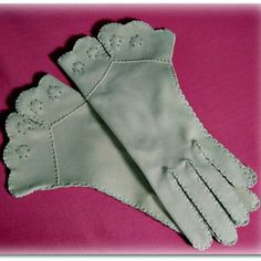 pretty gloves | ... vintage embroidered cuffed gloves listed in all products belts gloves